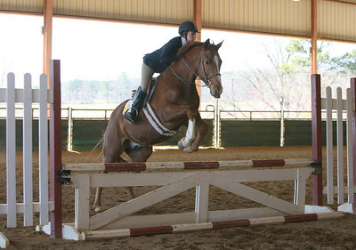 Berry College student, Sarah Smith, rides in the Novice Equitation Over Fances to finish 4th at today's competition at Berry College.