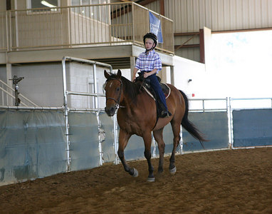 Russell and Frannie Wilson riding lesson at Berry College June 2006