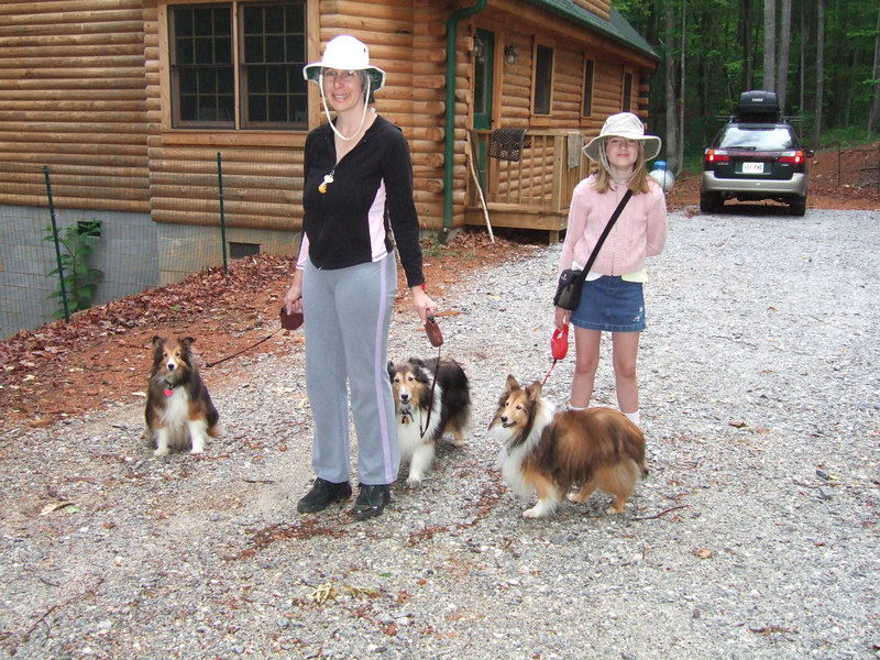 Ursa and others ready for a hike. May 2006 in Tryon, NC.