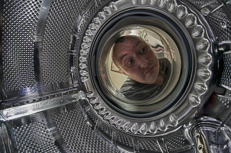 Inside a washing machine ...
