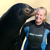 Deano and Sea Lions Curator Beth Schaefer