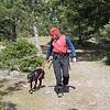 Descending Turtleback - working on a loose leash heel with Jilly Bean