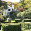 behind the house was a small boxwood parterre garden.
