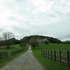 the long driveway approach to Rochambeau Farm, past the barn and paddocks