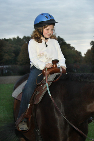 A Quarter Horse named Chip and Bronwyn MacAlindon-October 11, 2011 in Vermilion