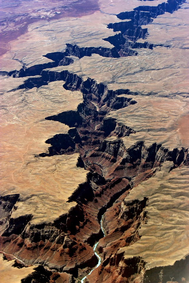 River Canyon from 35,000 Feet