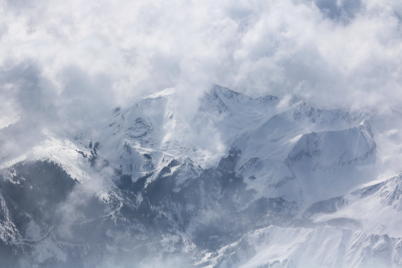 Cloud Covered, Snow Capped Mountains 1