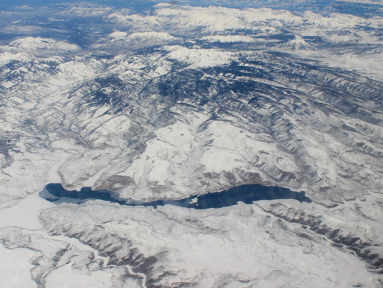 High Mountain Lake in Winter