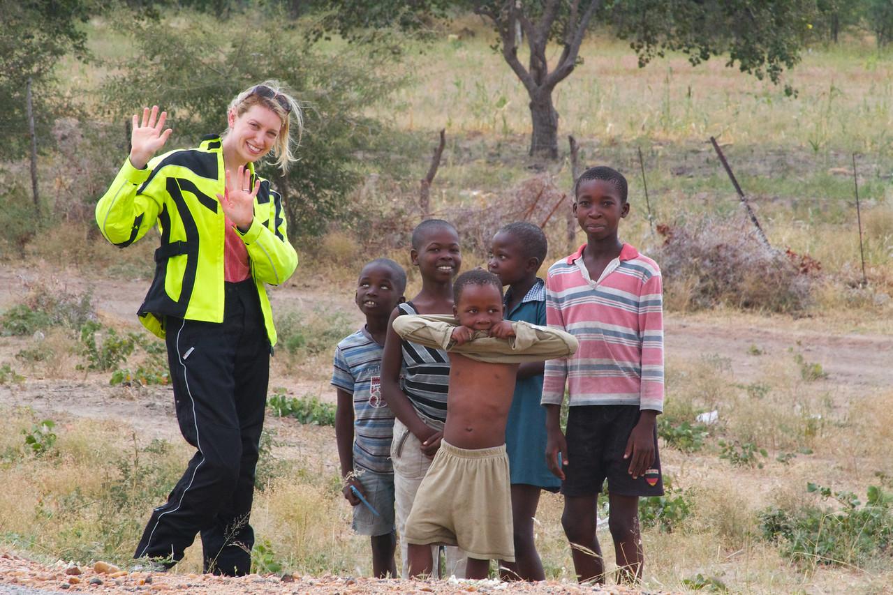 Kids in Botswana