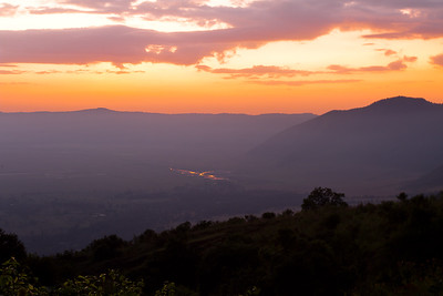 Sunrise Ngorongoro crater