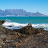 Capetown's Table Mountain across bay