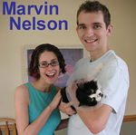 Marvin Neson adopted out of South Bay Veterinary Hospital on 7/22/06.  Marvin lost a leg and part of his tail because of injuries sustained from an illegal trap.  He's lucky to be alive and even luckier to be adopted by his new loving human guardians.