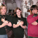 Tayberry, Pepe and Dom Purrington were adopted from the Cat House and Adoption Center on Saturday, July 12, 2008.