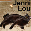 Jenni Lou, Bug, and Christopher Cross, were adopted from our Cat House and Adoption Center on Saturday, October 4, 2008. Jenni Lou considers herself a Master Mouser.  She doesn't care that the mice aren't real.  If you attempt to tell her otherwise, she'll throw her toys all around the floor in protest.