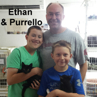 Ethan Crowe and Purrello were adopted from the Cat House and Adoption Center on Saturday, September 17, 2016.