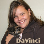 "DaVinci was adopted from the ""Paws for the Cause"" event on Sunday, August 9, 2009 ."