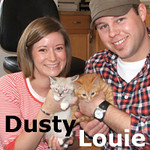 Dusty and Louie, both boys, were adopted together from Steamboat Animal Hospital on Sunday, April 25, 2010.