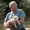 Rick holding lamb