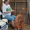 spinning alpaca wool