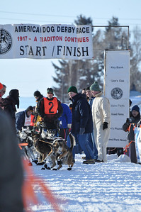 The excitement of the start. American Dog Derby, Ashton, Idaho. 2.09.