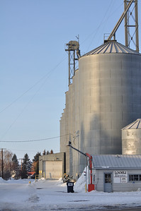 Grain elevators, downtown Ashton, Idaho 2.09