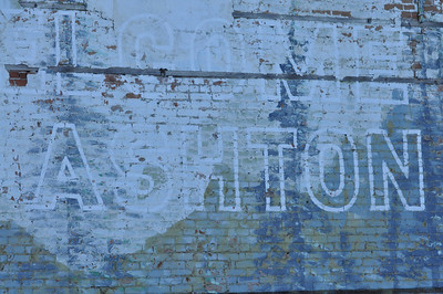 Welcome to Ashton sign.  Ashton, Idaho. 2.09