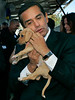 """New Shelter""   Mayor Antonio Villaraigosa, holds a puppy at the open house and dedication ceremony for the North Central Animal Care Center in Los Angeles.  The event featured a ribbon- cutting ceremony,  plaque dedications and  Mayor Antonio Villaraigosa,  touring the facility."