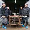 "After he is sedated, the Animals Asia team bring Peter out of quarantine for his health check. <br /> <br /> All print proceeds go to Animals Asia, who rescued these moon bears.<br />  <a href=""http://www.animalsasia.org"">http://www.animalsasia.org</a>"