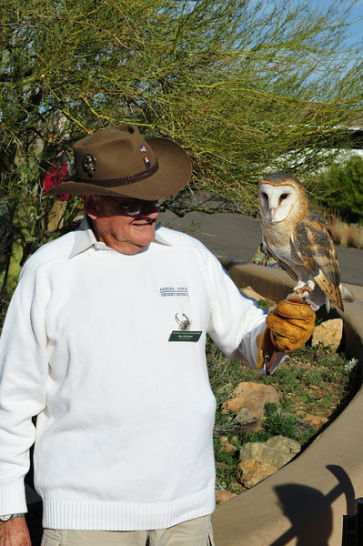 Barn Owl and Keeper