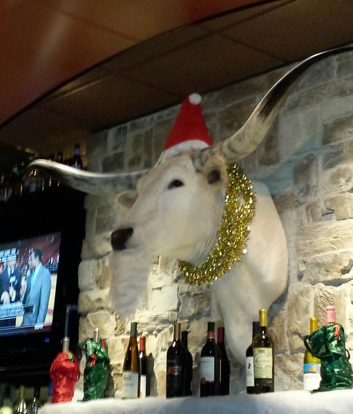 Longhorn Santa