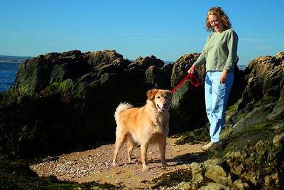 Bailey at LightHouse point beach....