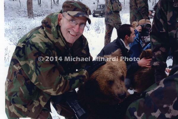 SSG MINARDI with bear named Trouble