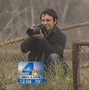 "Me taking photos on NBC LA! Check out the ""Published""  tab above to see what I ended up with."