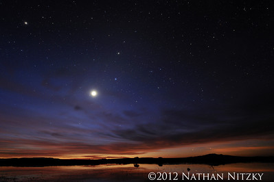 Venus shines on the Flight Deck, Bosque del Apache NWR, Socorro NM