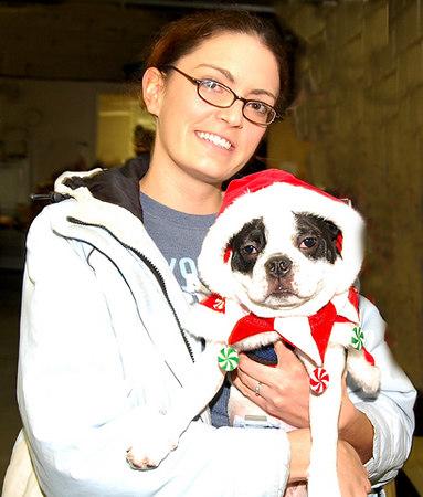 It's Oreo the Santa dog.