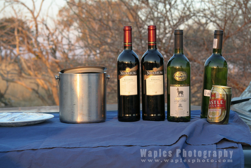 Sundowner with South African Wines and Beer