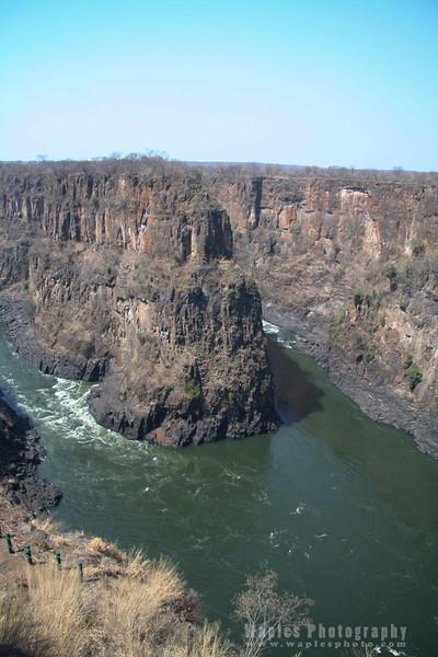Gorge in volcanic basalt