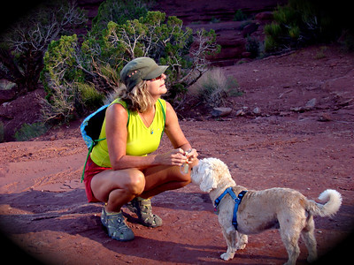 Annette & Buddy in Moab