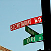 SECRETARIAT WAY: Pointing the way to Claiborne Farm.