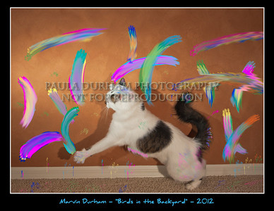 """This is my first """"exhibit-able"""" work in my opinion.  I was inspired by the birds I find in my backyard; one of my favorite things to do is stalk and chase them.  I have many quail in my yard, and they do not fly very well.  As such, I am able to flit about the yard chasing them; Paula often says that I look as though I'm dancing.  I was able to recreate this motion in the studio and am quite happy with the result."""