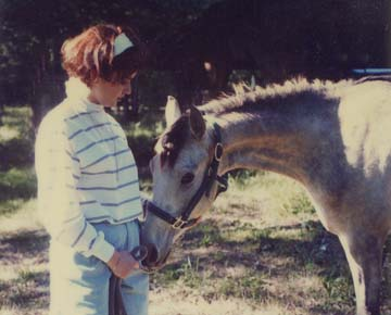 Chance as a yearling with my sister, Gretel.