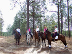 Riders from the Gumbo Endurance ride in the Kisatchie National Forest.