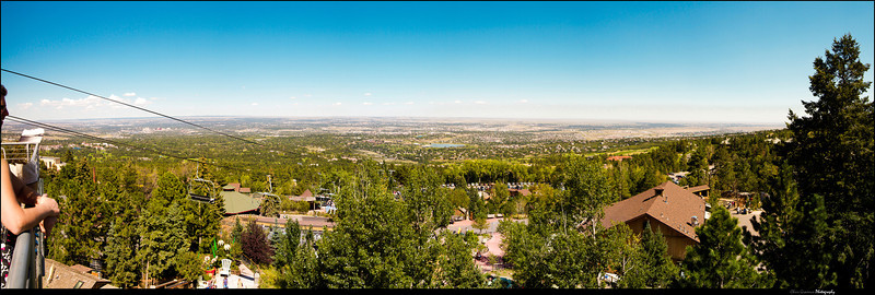 15 pictures stitched together to make this panorama from Cheyenne Mountain over looking Colorado Springs.