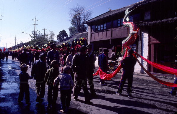 Over the next few days of Chinese New Year festivities, the dragon's tail gets shorter and shorter.