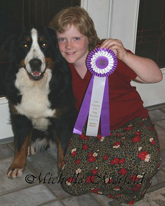Ange with Febie and her first ribbon