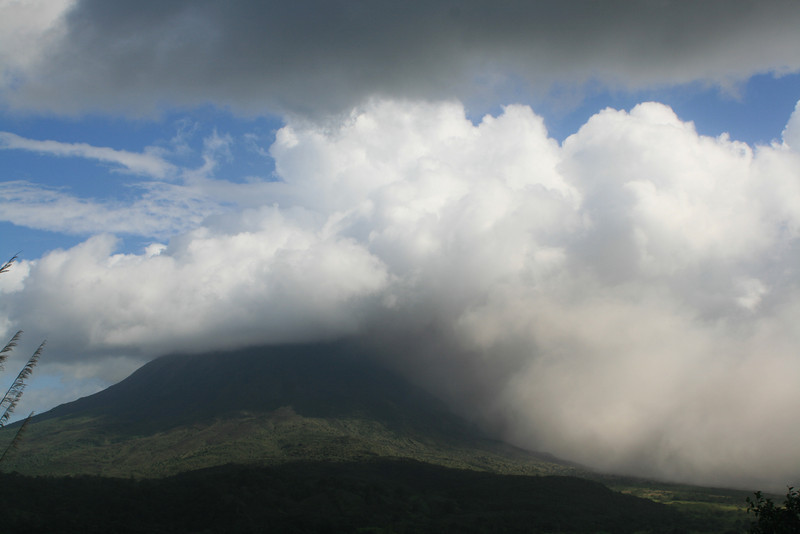 Clouds over Arenal Volcano.