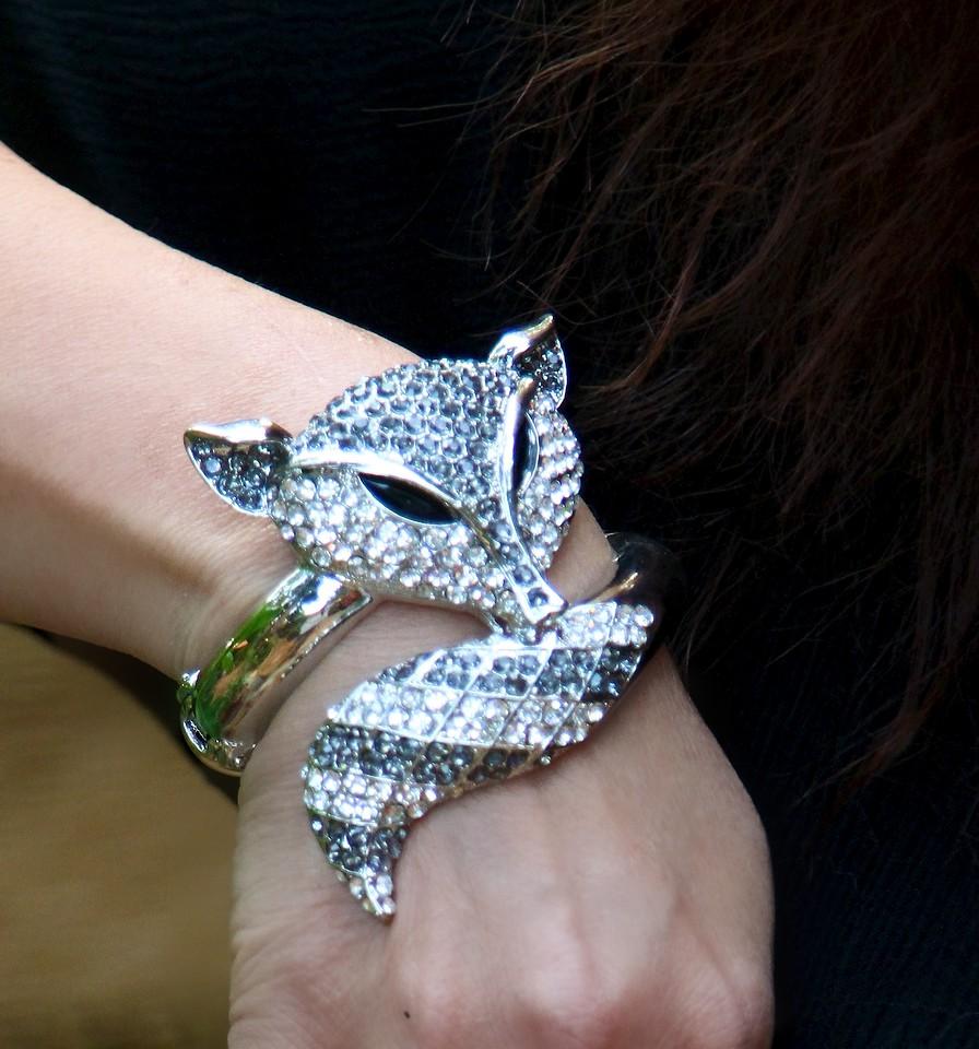 "My Swarovski crystal ""Onni"" fox bracelet"