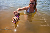 While Swimming in Bull Shoals Lake in Arkansas, Little would go into a trance while floating - Photo by Pat Bonish