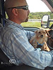 Riding on Daddys Lap on a Road Trip - Little & Pat - Photo by Cindy Bonish