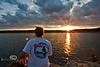 Enjoying a Sunset with Cindy over Bull Shoals Lake in Arkansas - Photo by Pat Bonish